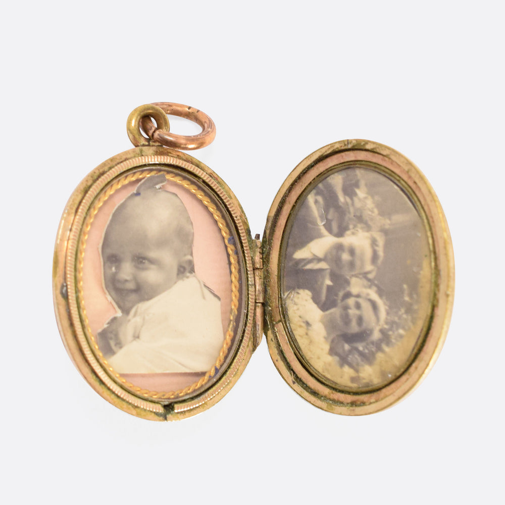 "Victorian ""Handshake"" Friendship Locket - Butter Lane Antiques"