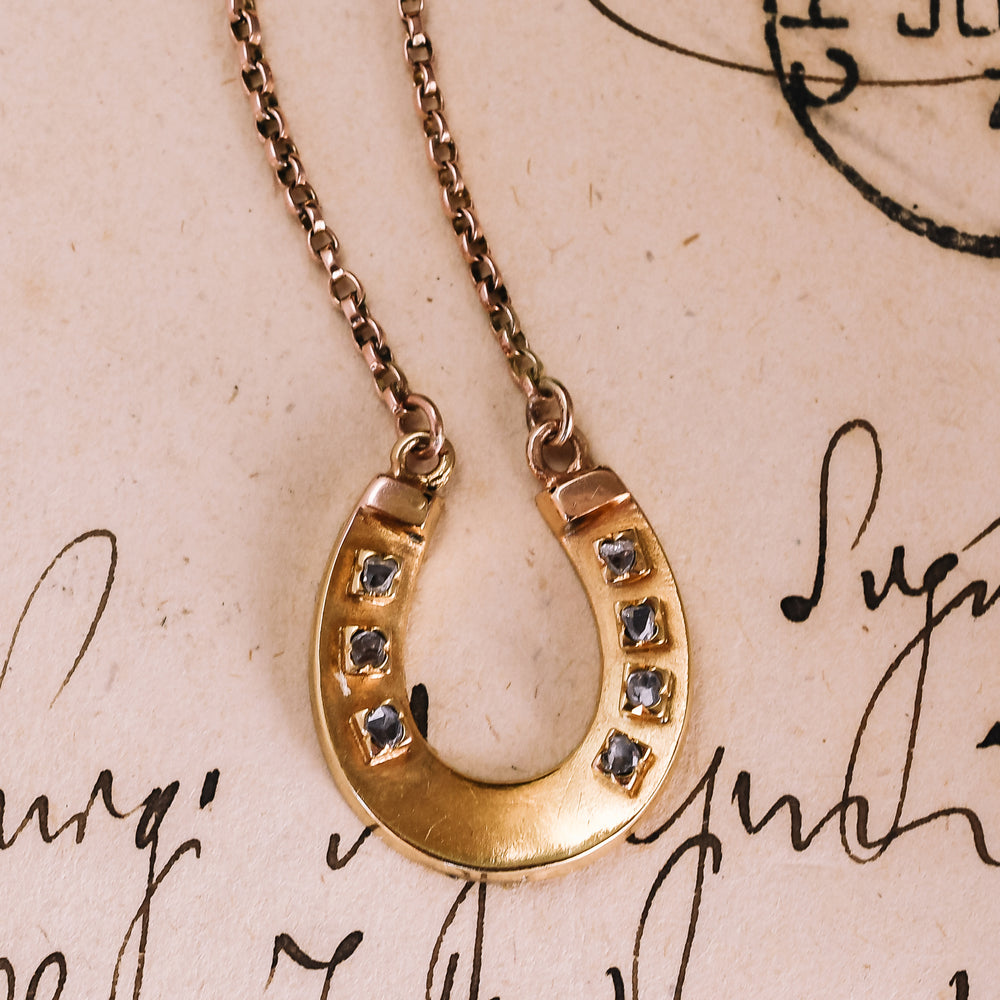 Victorian Diamond Horseshoe Necklace