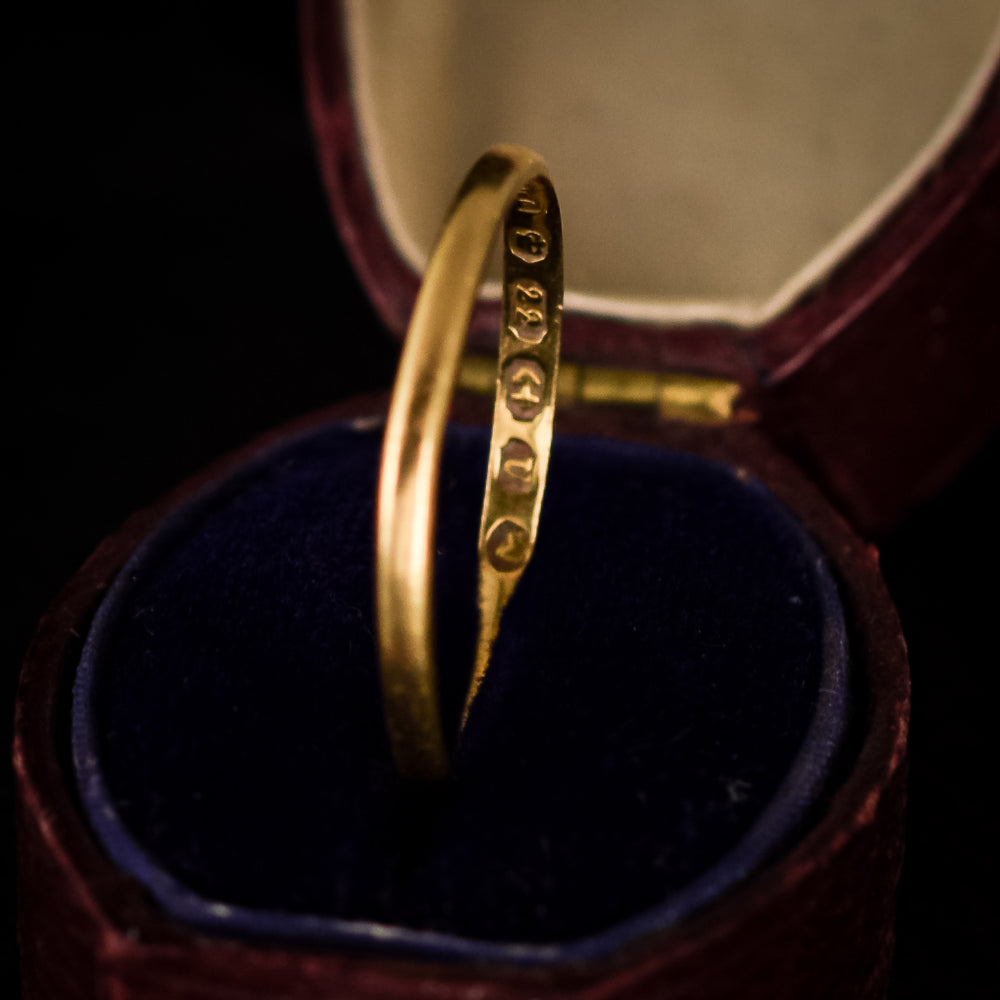 Mid-Victorian 22k Gold Wedding Band