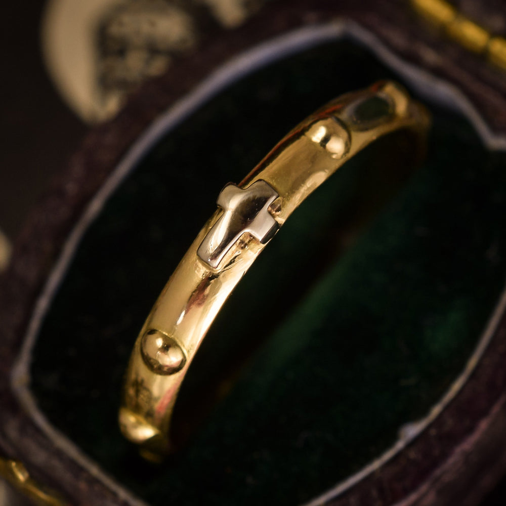 Victorian 18k Gold Rosary Ring