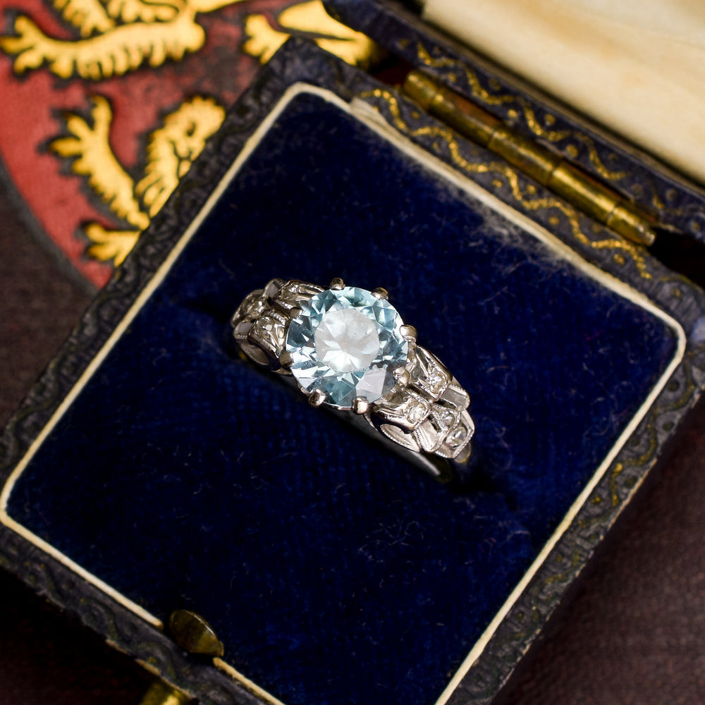 1930s Zircon Solitiare Ring