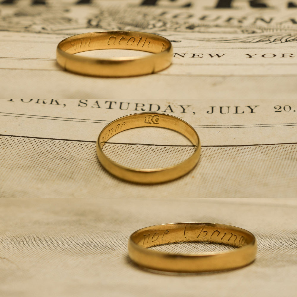 18th Century Posy Ring til death noe change