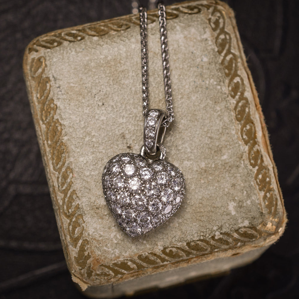 Cartier Diamond Heart Necklace