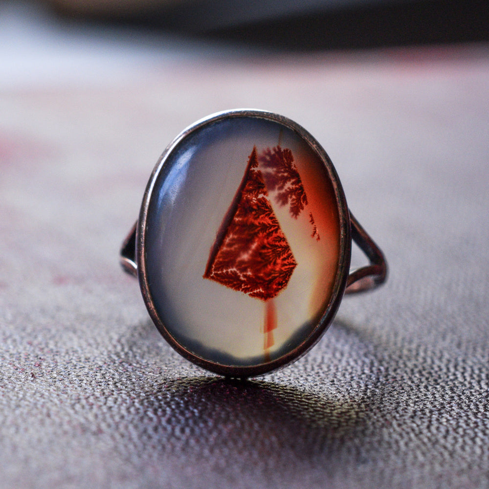 Edwardian Blood Agate Ring