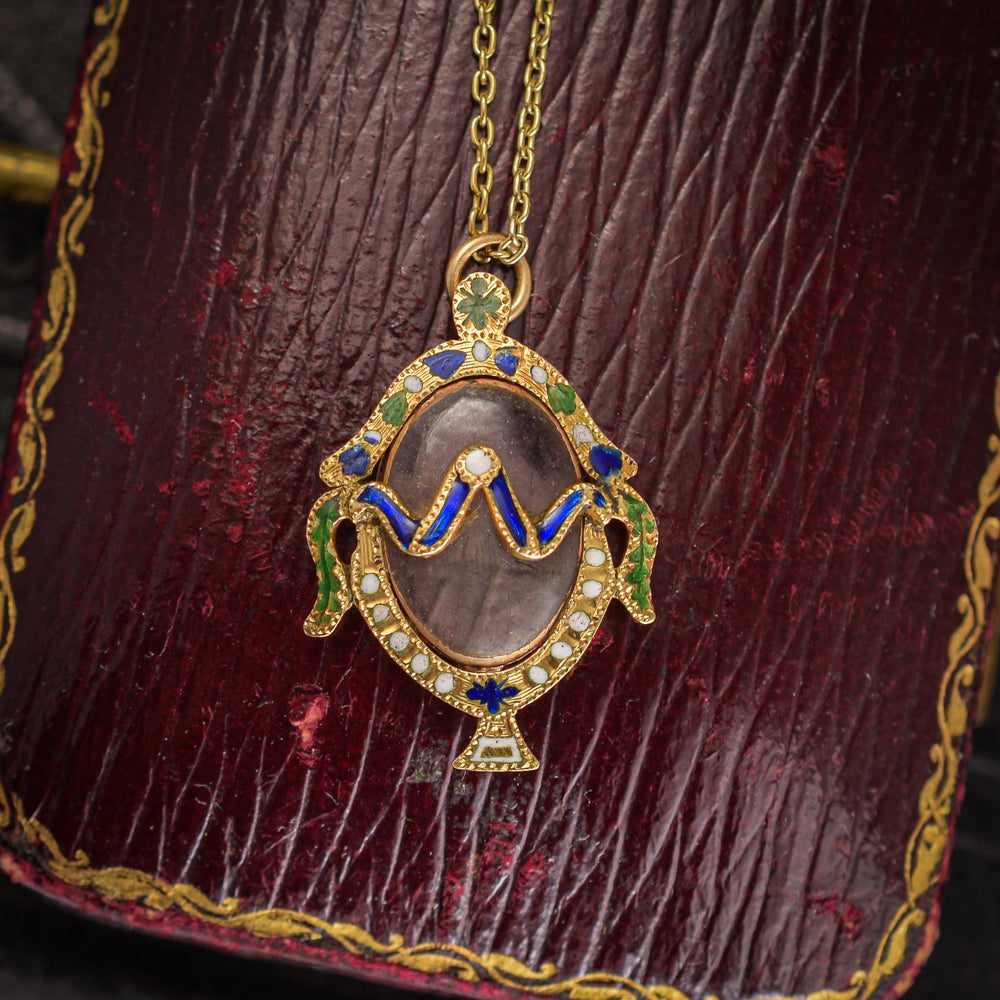 Georgian Enamelled Urn Locket