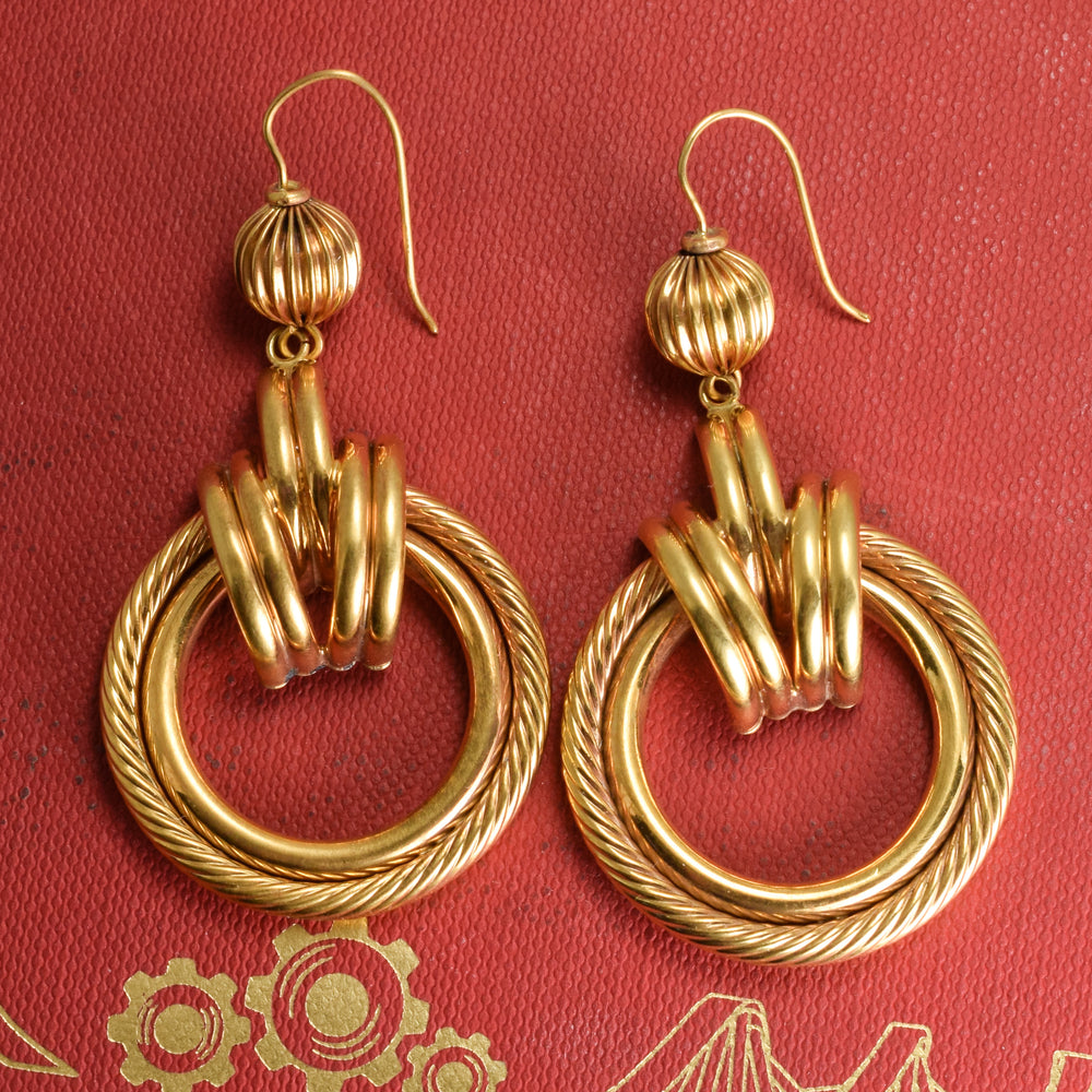 Vintage 1970s Gold Earrings