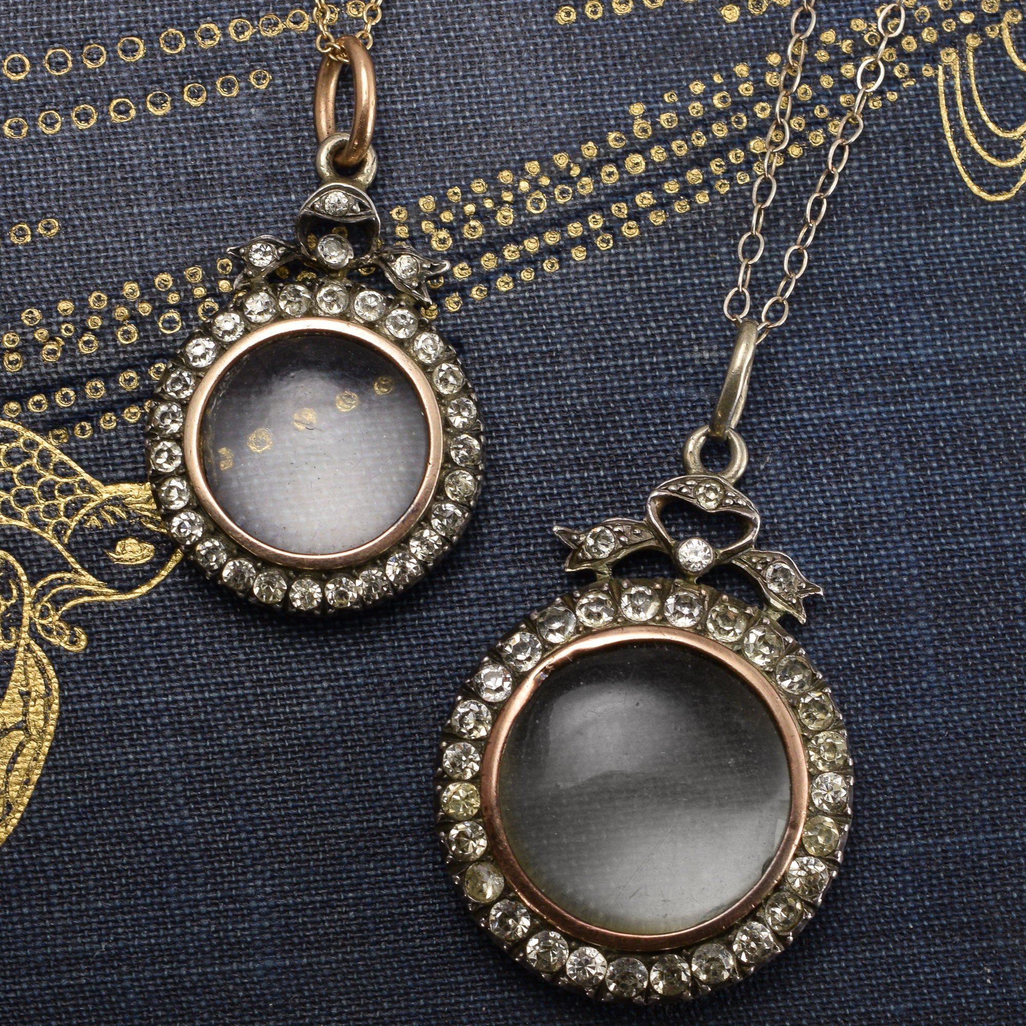 blackgold classic black lockets gold large locket round