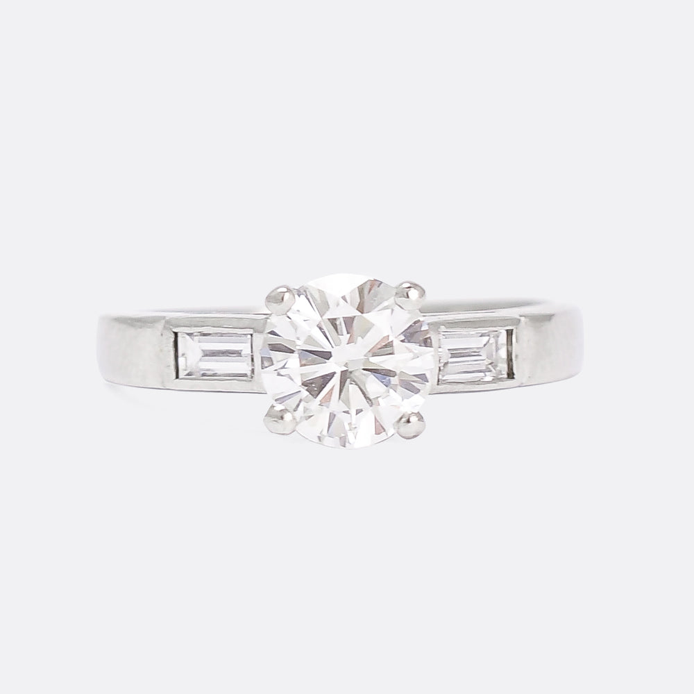 Art Deco 1.03ct Diamond Solitaire Engagement Ring