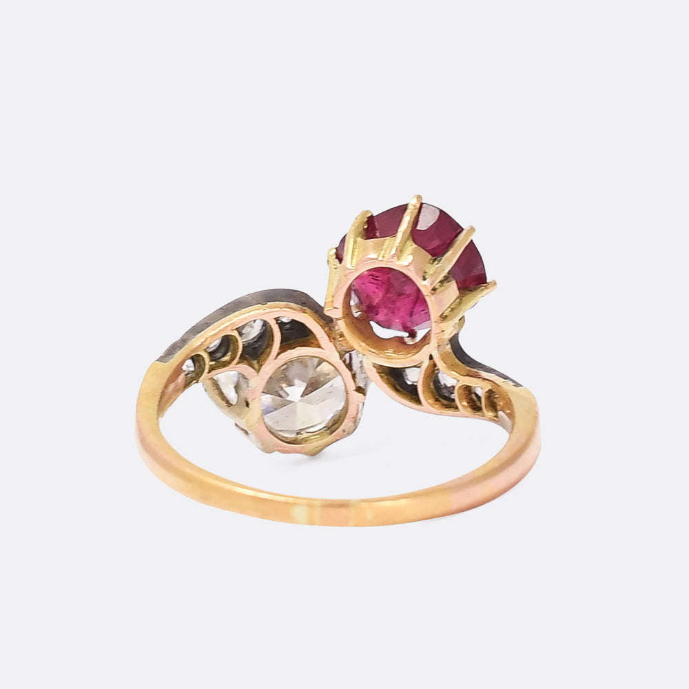 Art Nouveau Diamond & Burma Ruby