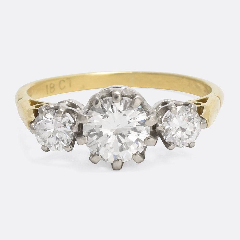 solitaire carat samuel h white ring number webstore classic diamond quarter d gold product