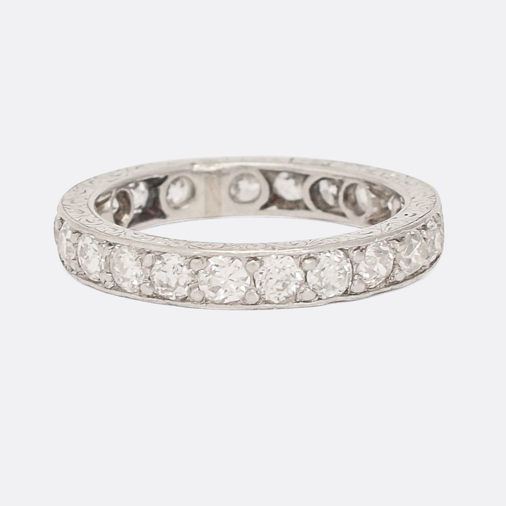 Art Deco 1.75ct Old Cut Diamond Eternity Ring