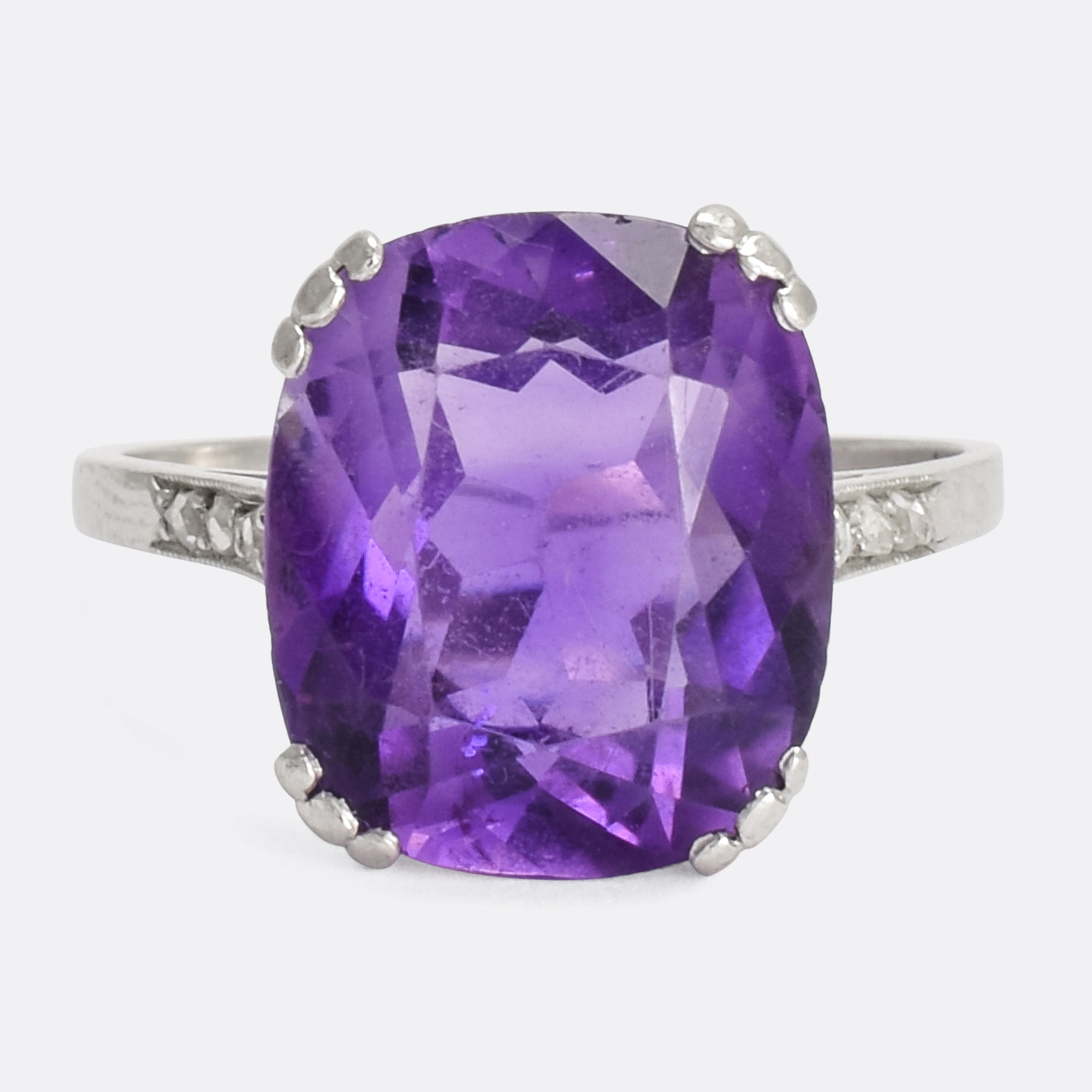 rings bold engagement of amethist img amethyst cut stone in cocktail lavender shades lilac three statement big emerald and ring products