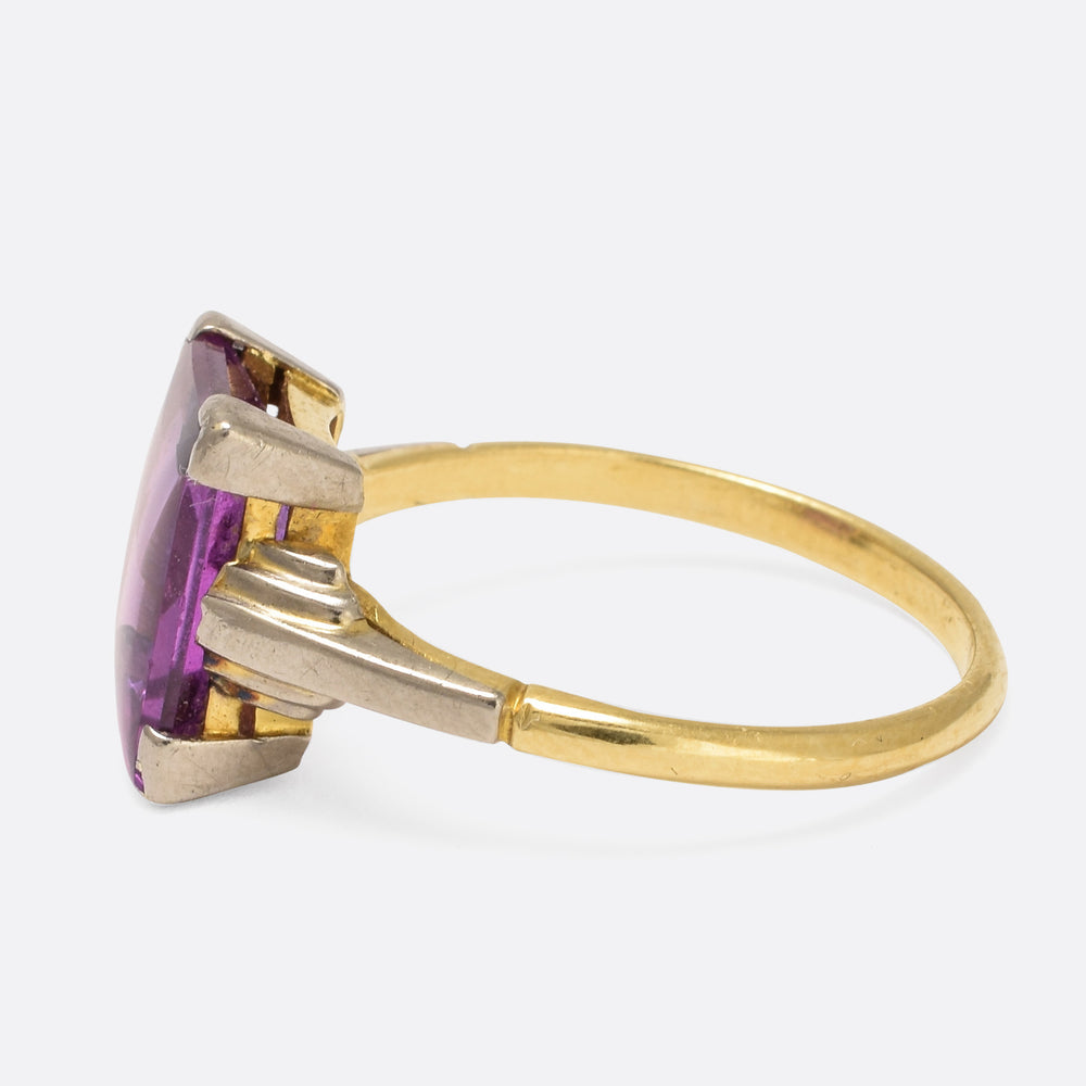 Art Deco Alexandrite Cocktail Ring