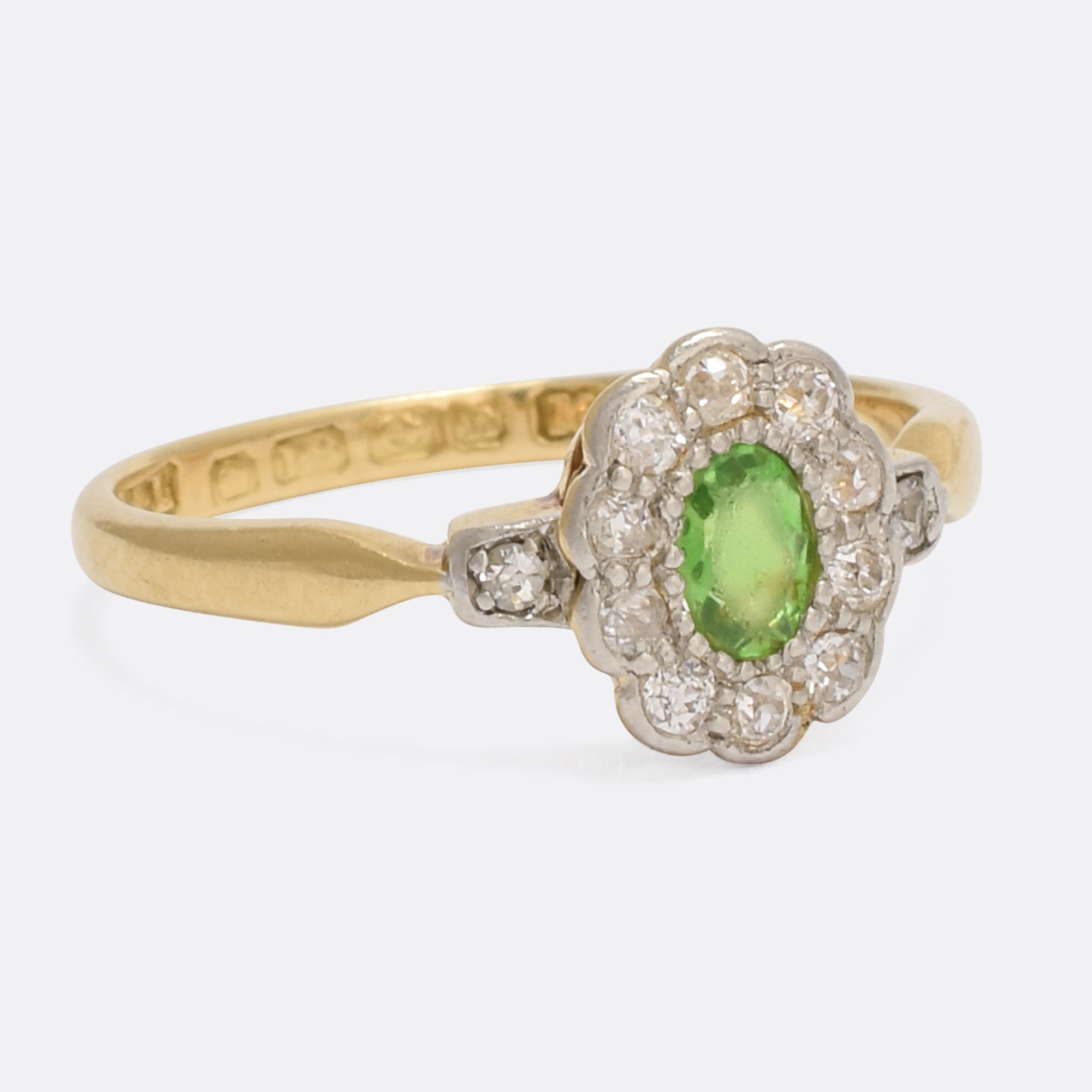 the products and in green collection elizabeth img diamond garnet ring henry tsavorite from virginia