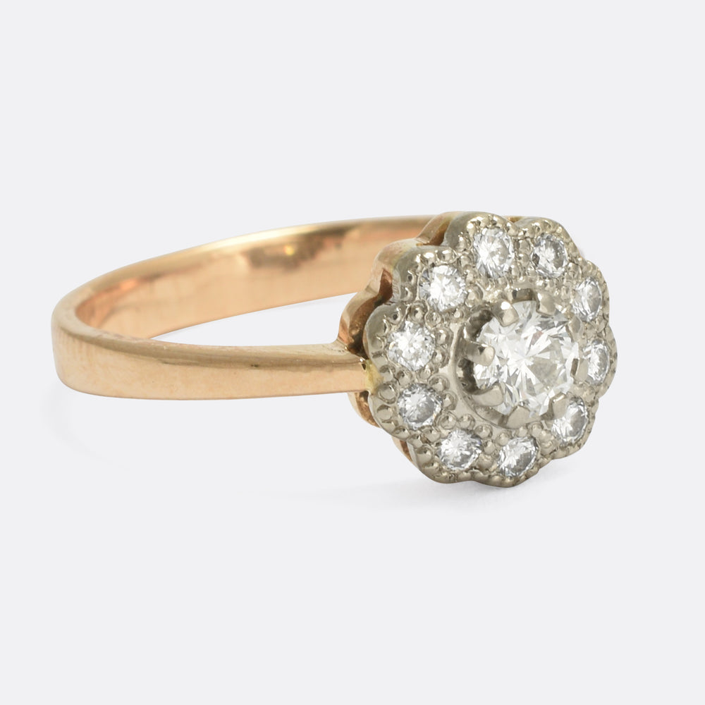 Art Deco Diamond Daisy Ring