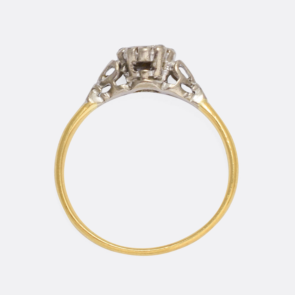 Art Deco Diamond Heart Ring