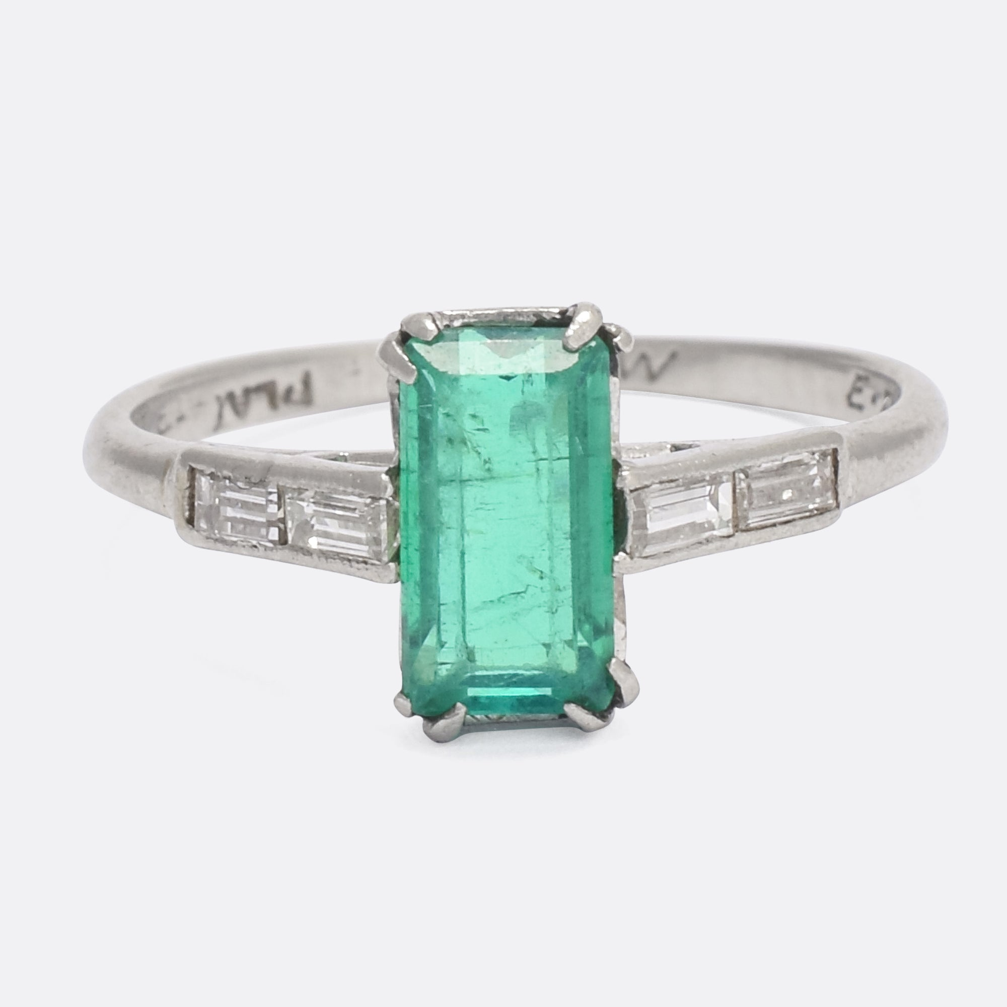 ring solitaire cut en winston diamond emerald engagement masked harry