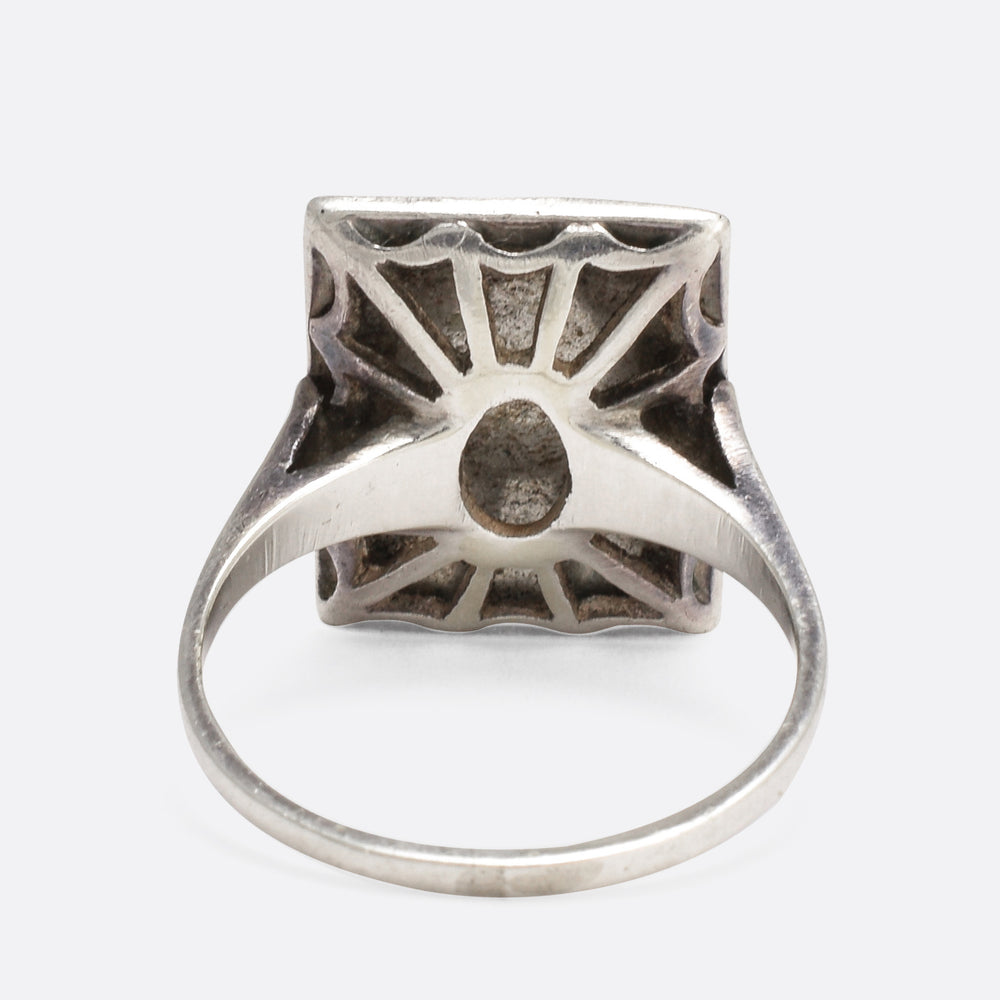 Art Deco Marcasite Pavé Panel Ring