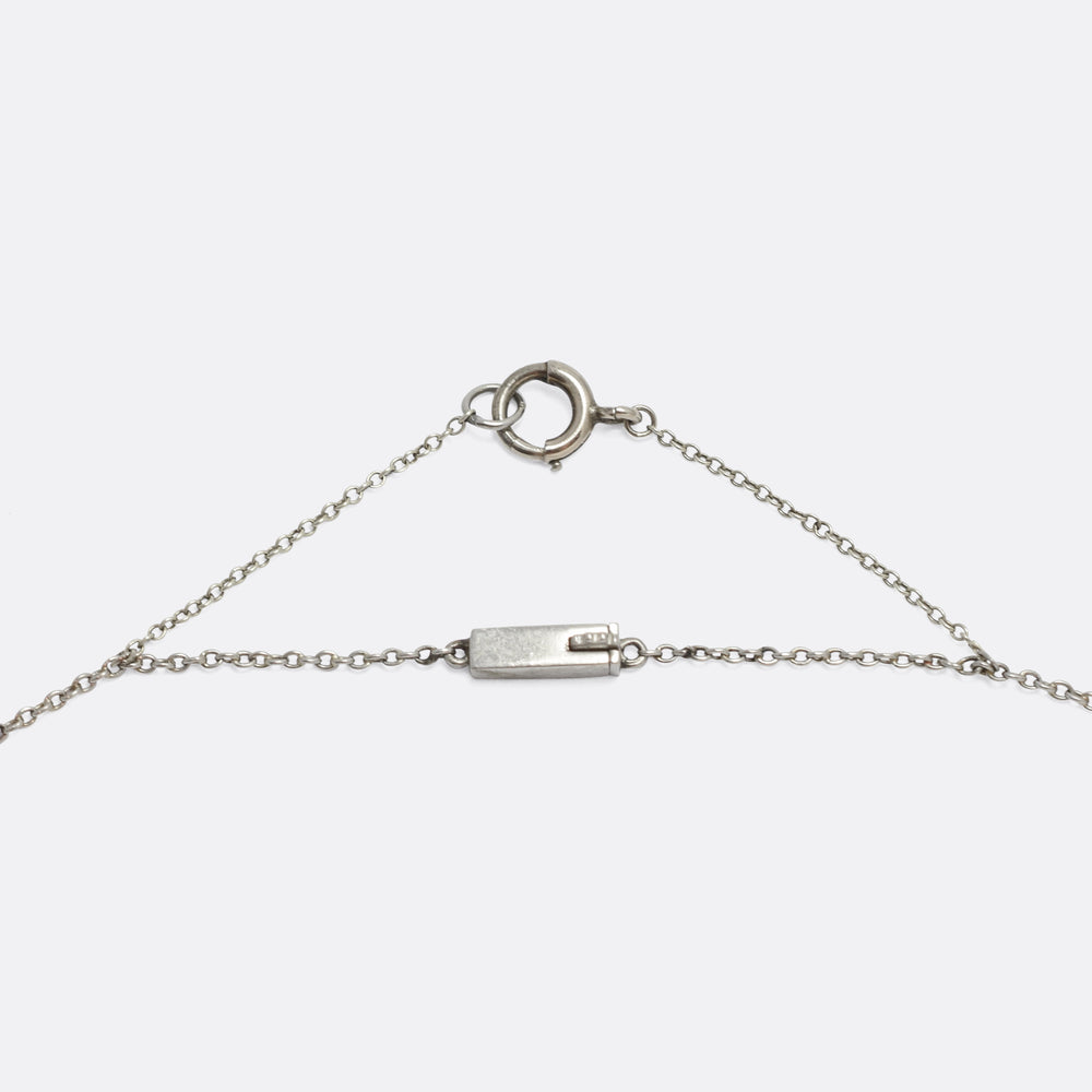 Art Deco Platinum Trace Chain, 20
