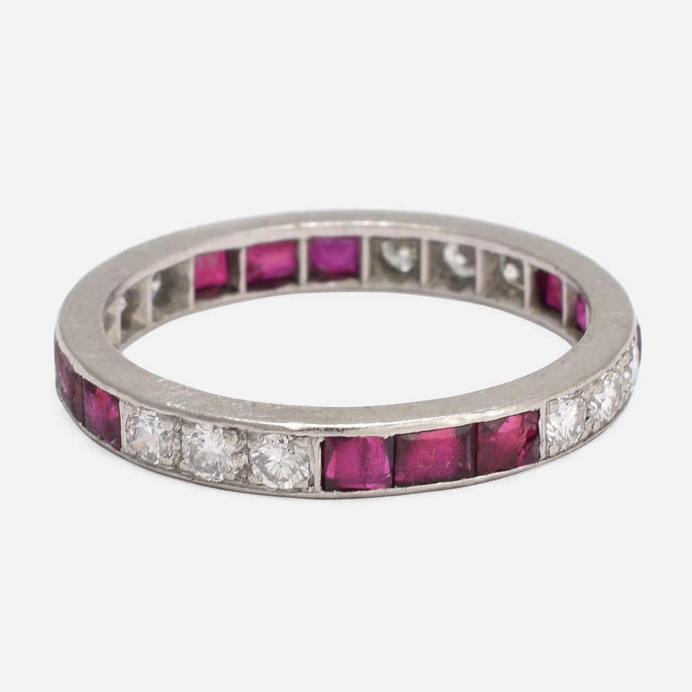 Art Deco Ruby & Diamond Eternity Ring