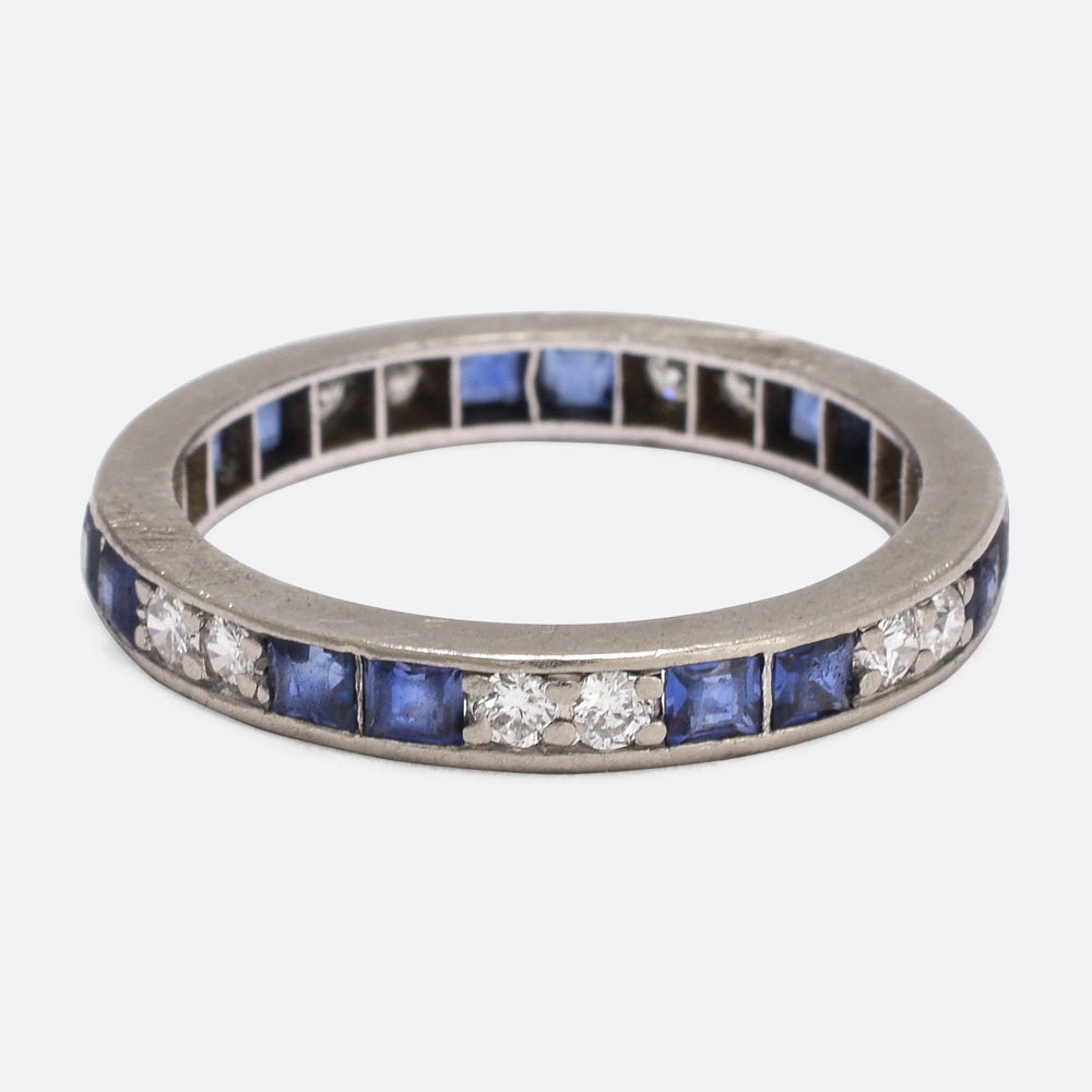 Art Deco Sapphire & Diamond Eternity Ring