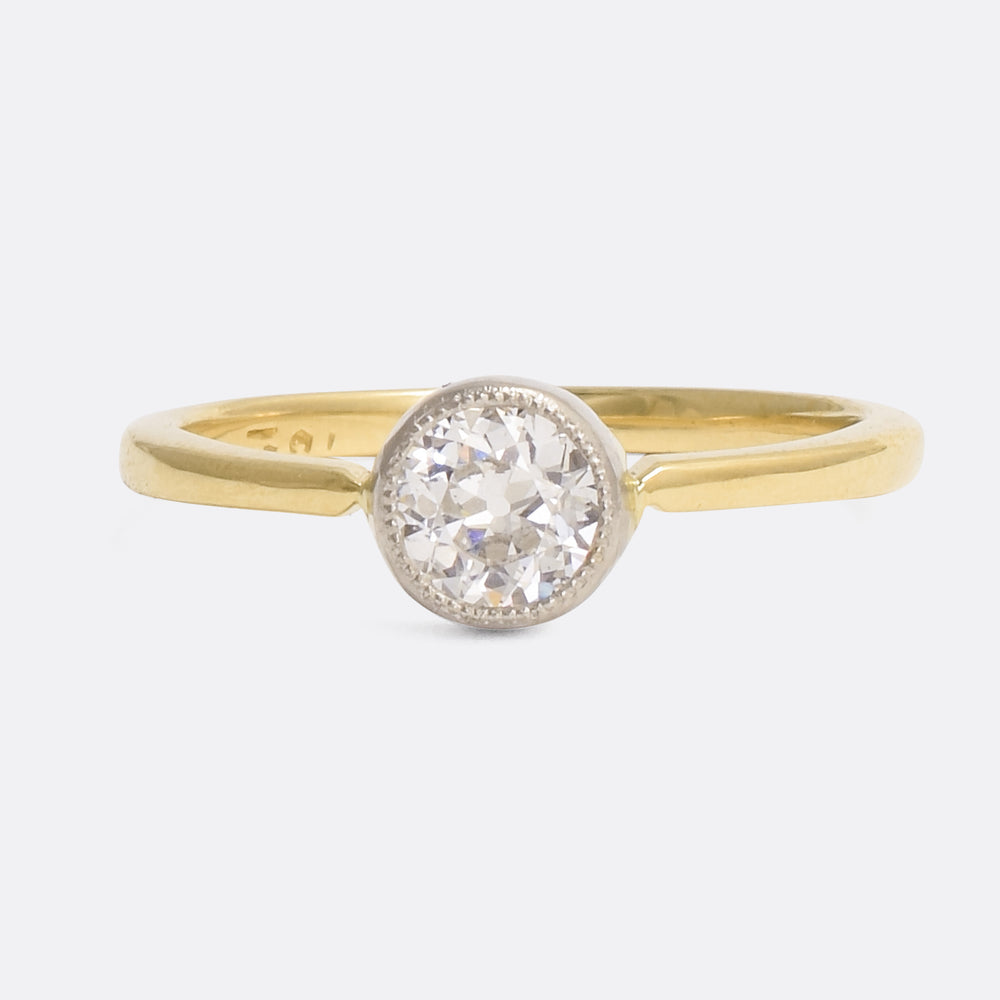 .47ct Transitional Cut Diamond Solitaire Ring