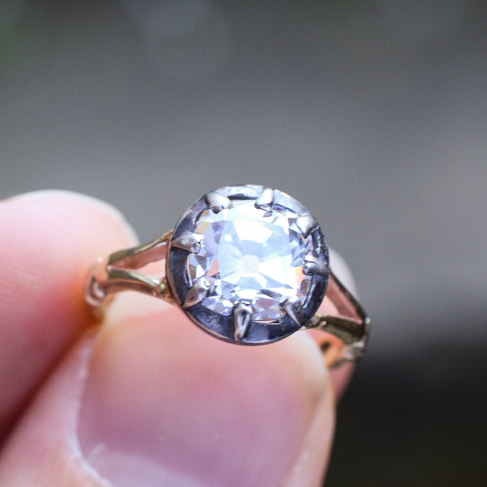 Bespoke Cushion Cut Paste Solitaire Ring