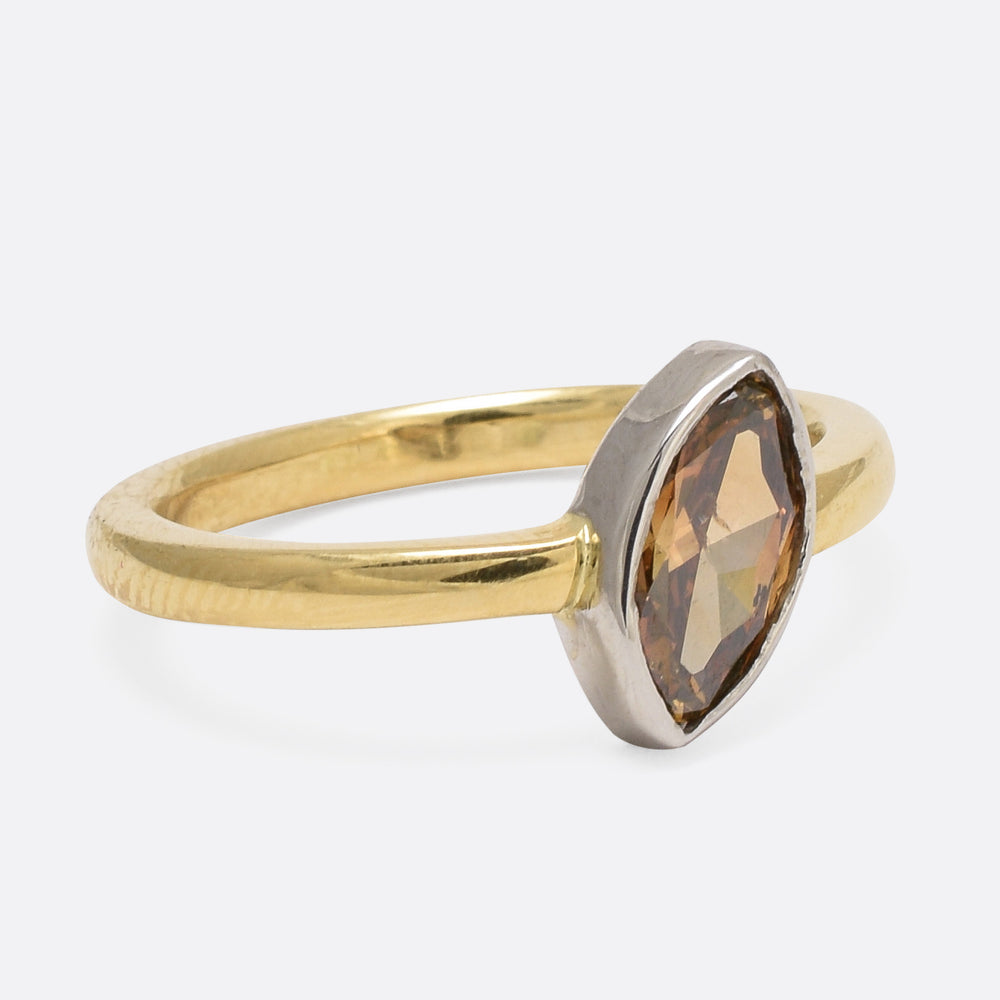 Cognac Moval Diamond Ring by Butter Lane