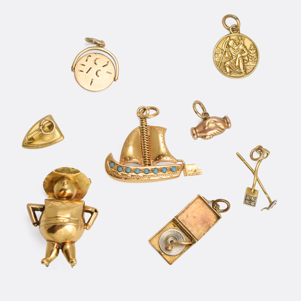 Collection of Antique & Vintage Gold Charms