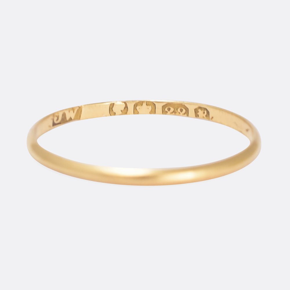 Early Victorian 22k Gold Wedding Ring