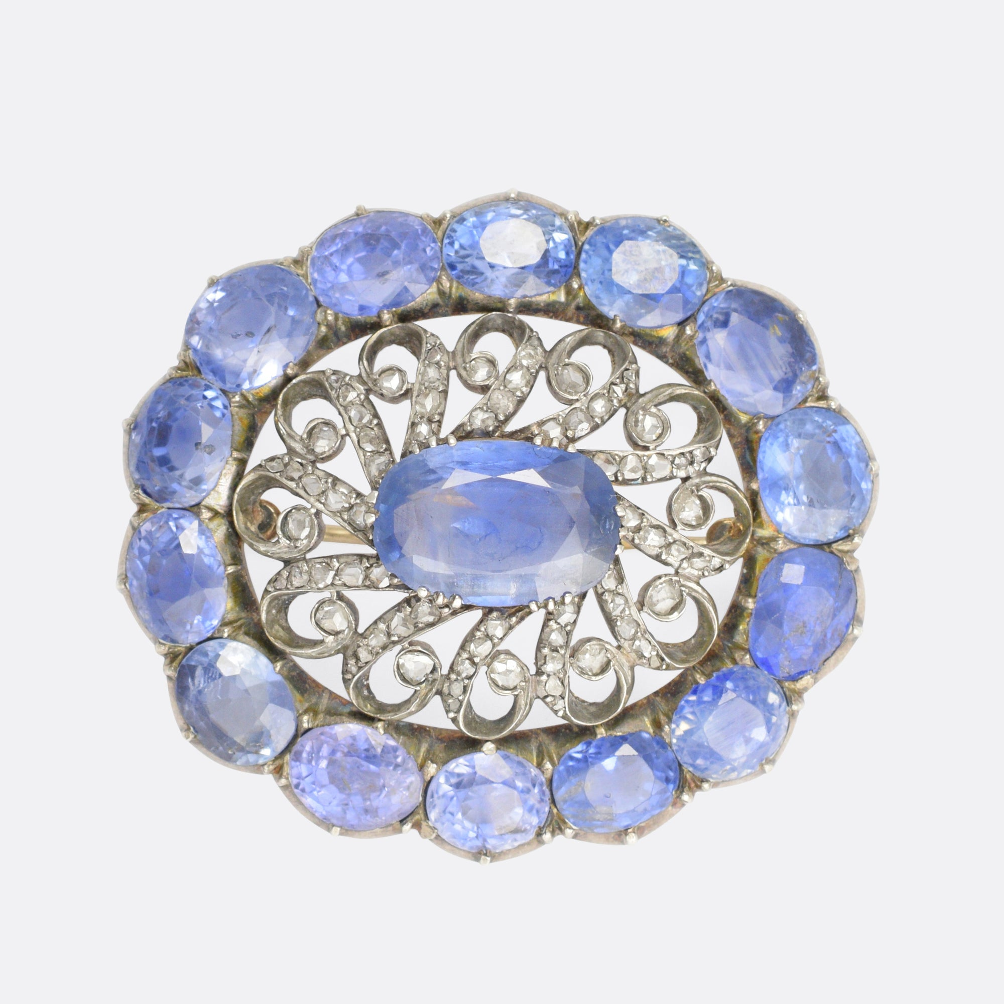 ring cushion chf stone carat sapphire cut estimate kashmir pin