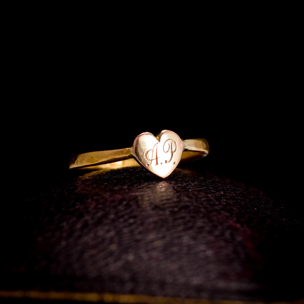 Mid Victorian Heart Ring, AP