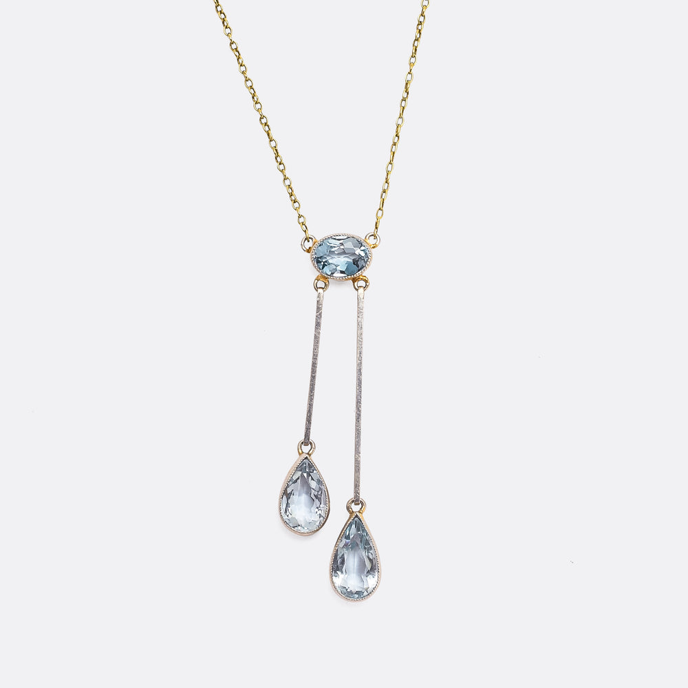 Edwardian Aquamarine Negligee Necklace
