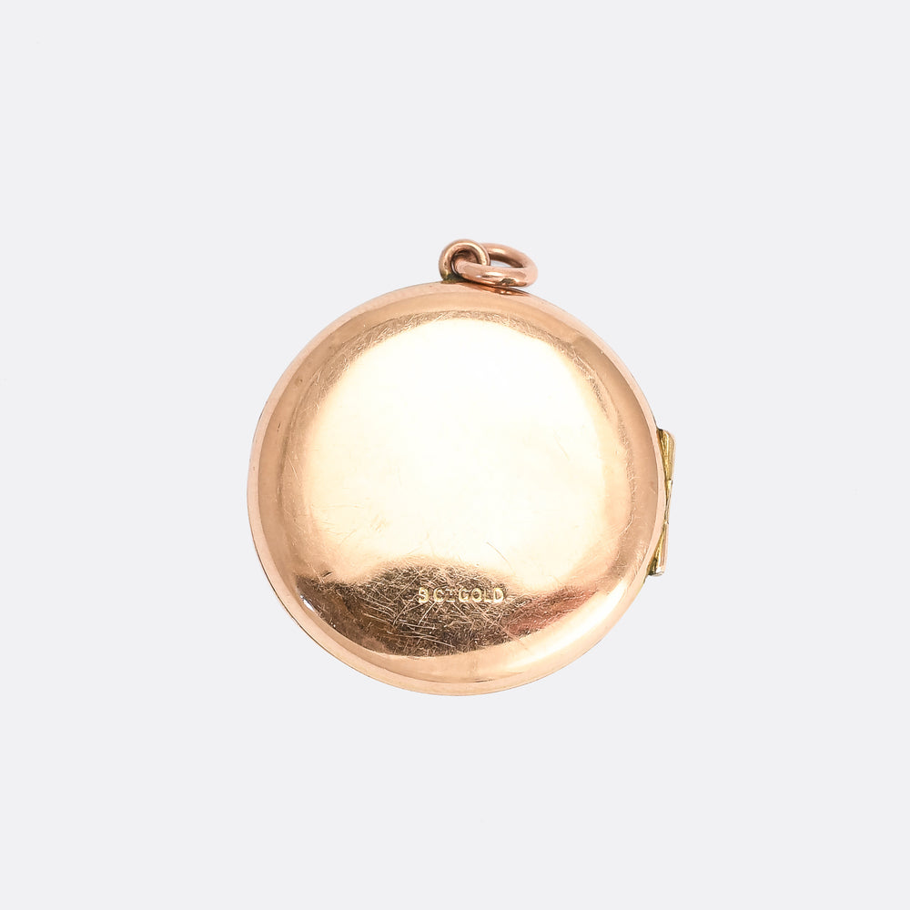 Edwardian Engine Turned Round Locket