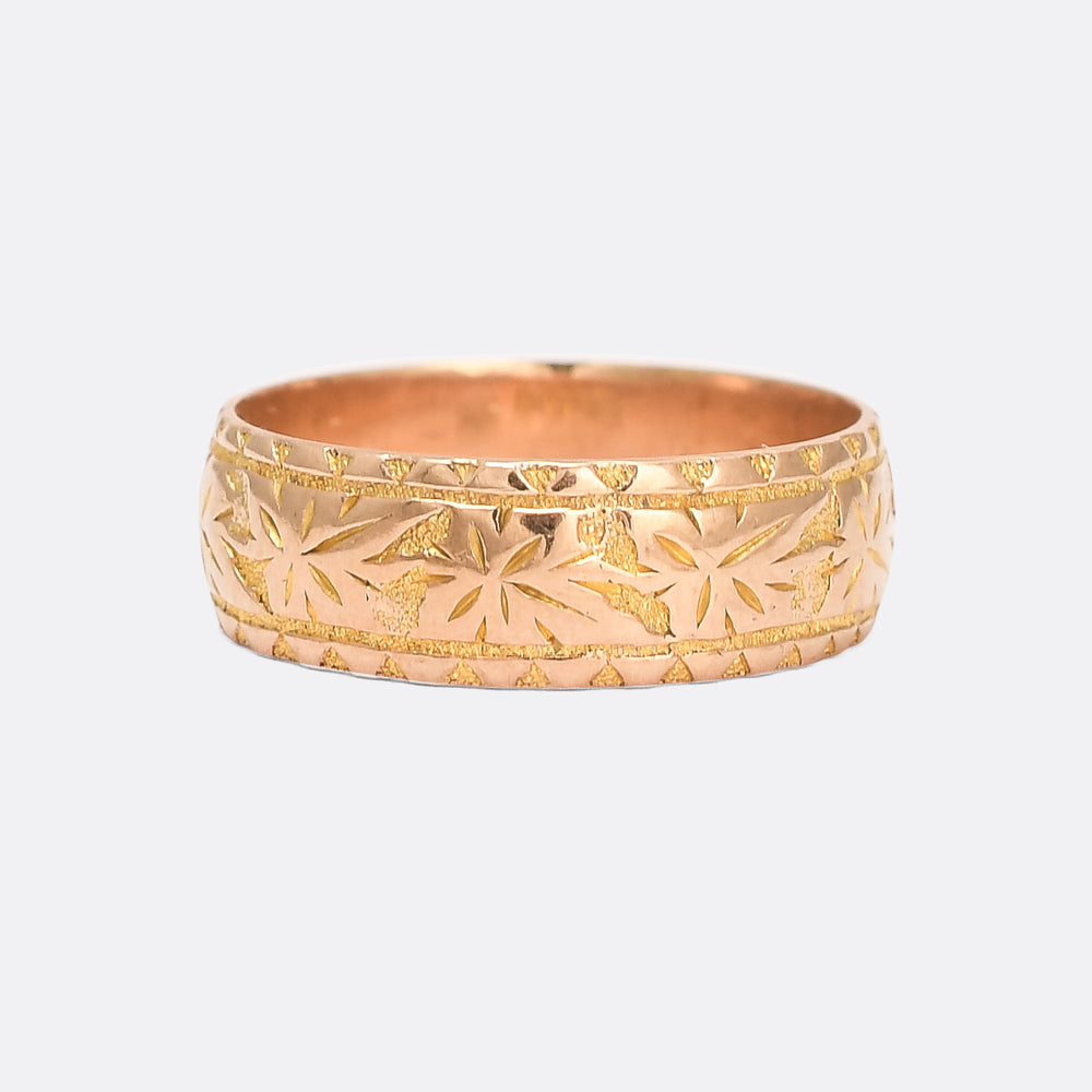Edwardian Ivy Leaf Wedding Band