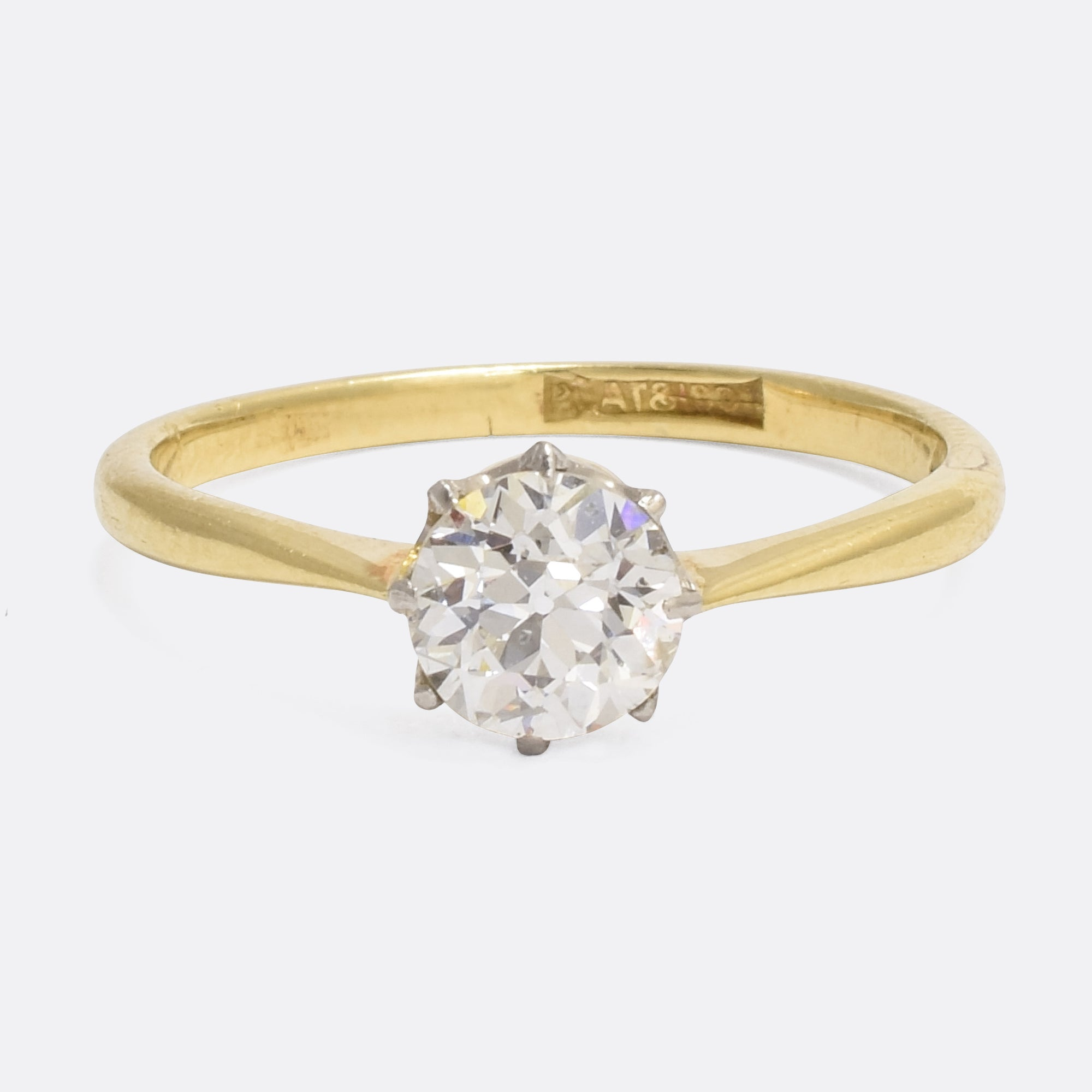 ring ly round in certified solitaire rings brilliant ct cut engagement white diamond gold da
