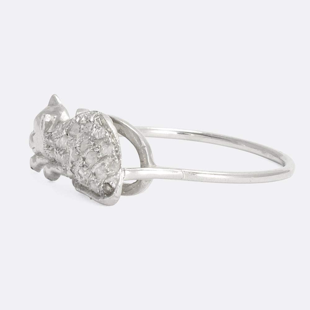 Edwardian Diamond Cat Ring