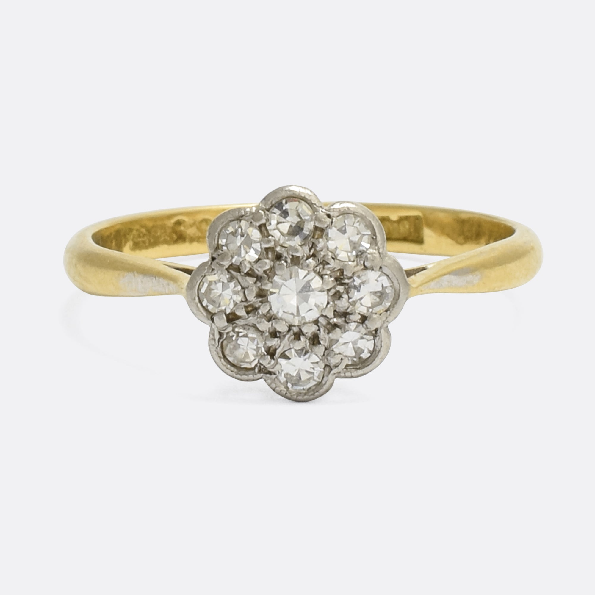 bezel diamond set engagement in rings gold flower daisy ring white