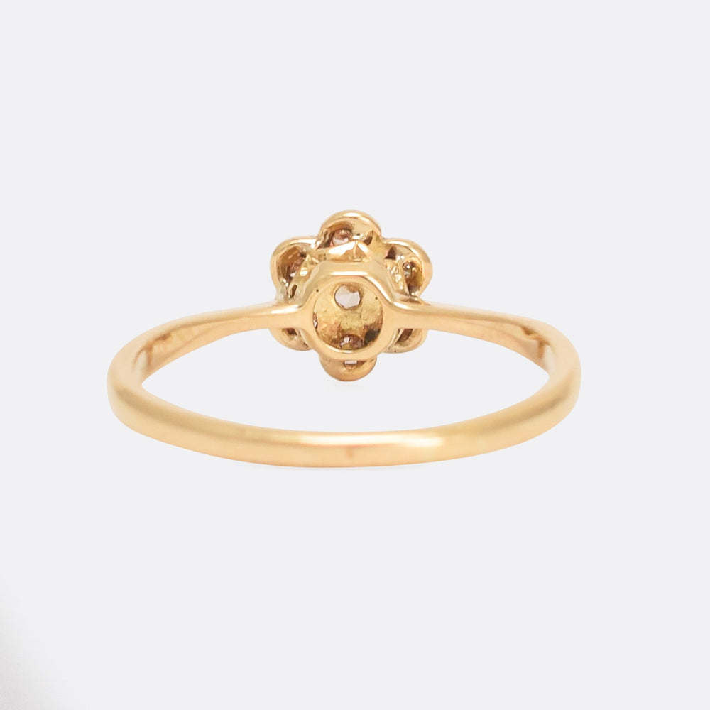 Edwardian Diamond Daisy Ring