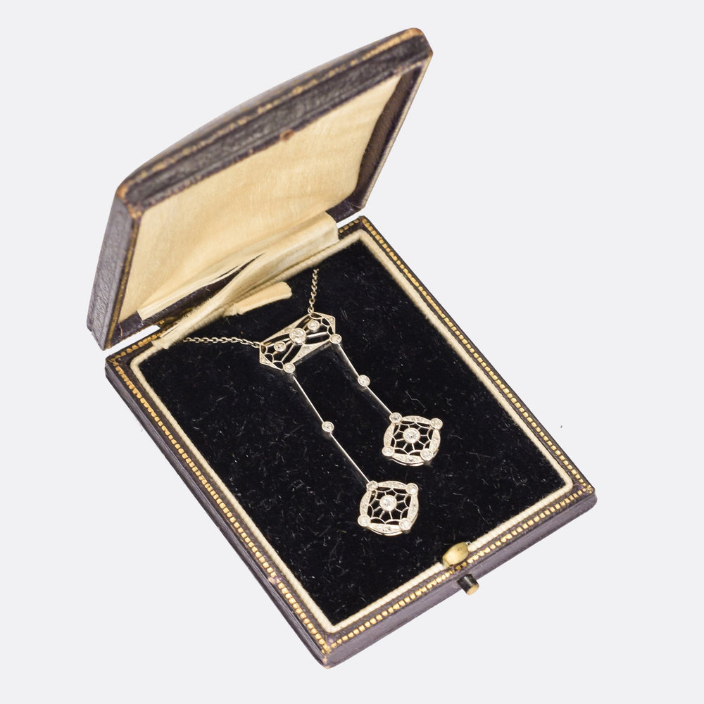 Edwardian Diamond Negligee Necklace