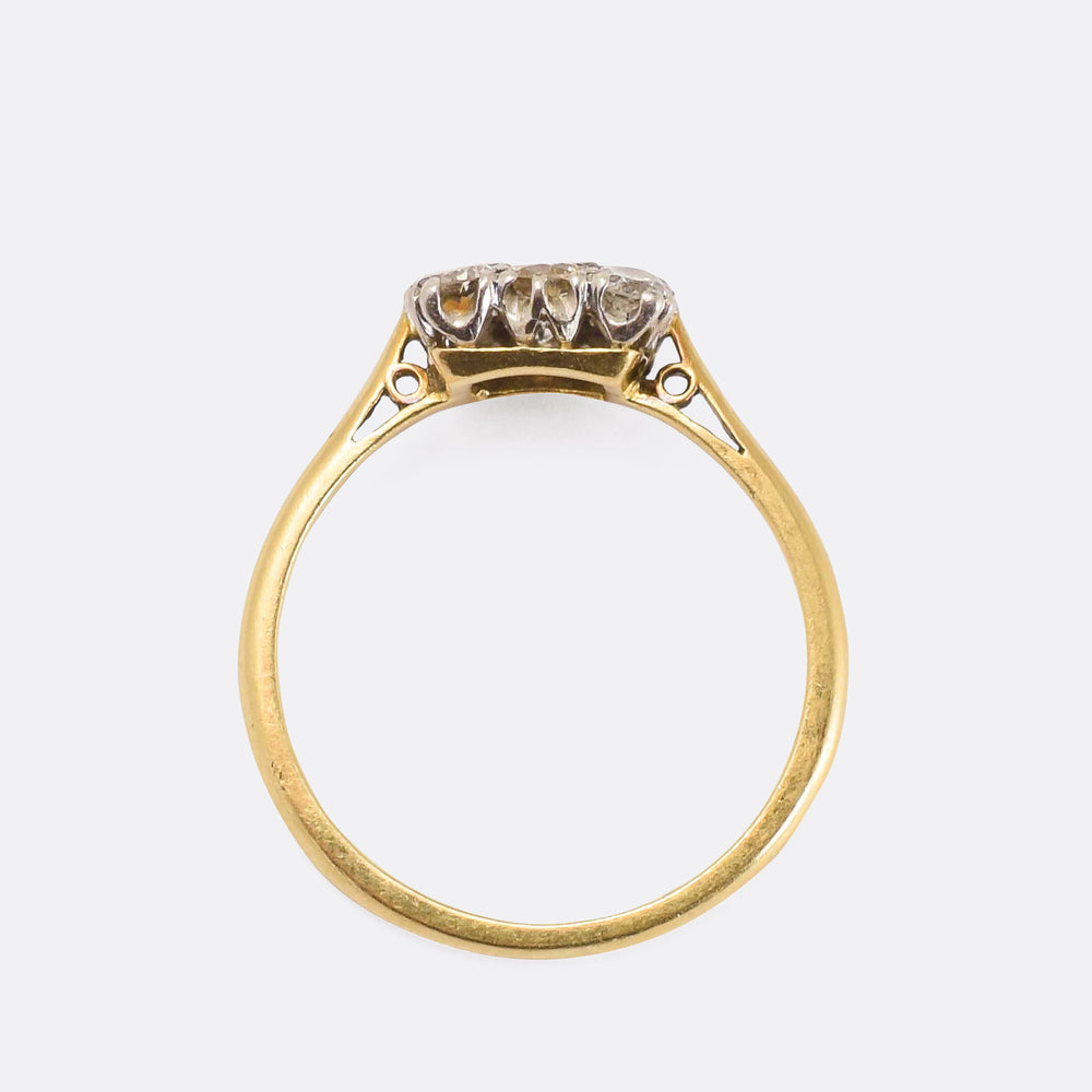 Edwardian Diamond Square Cluster Ring