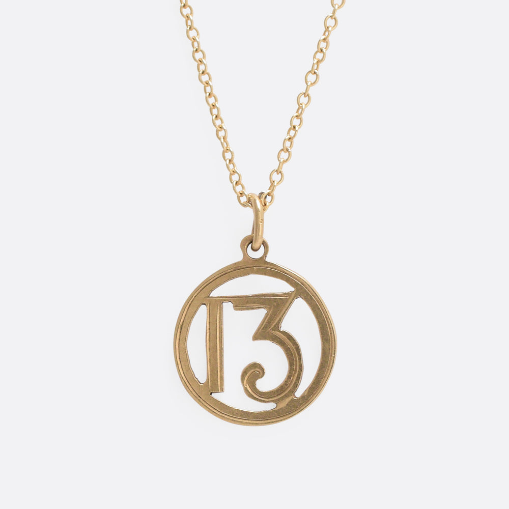 Edwardian Gold 13 Pendant