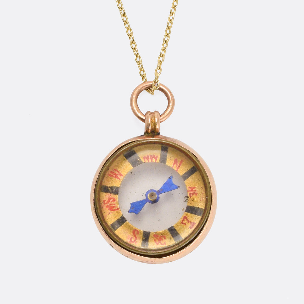 Edwardian Gold Compass Pendant