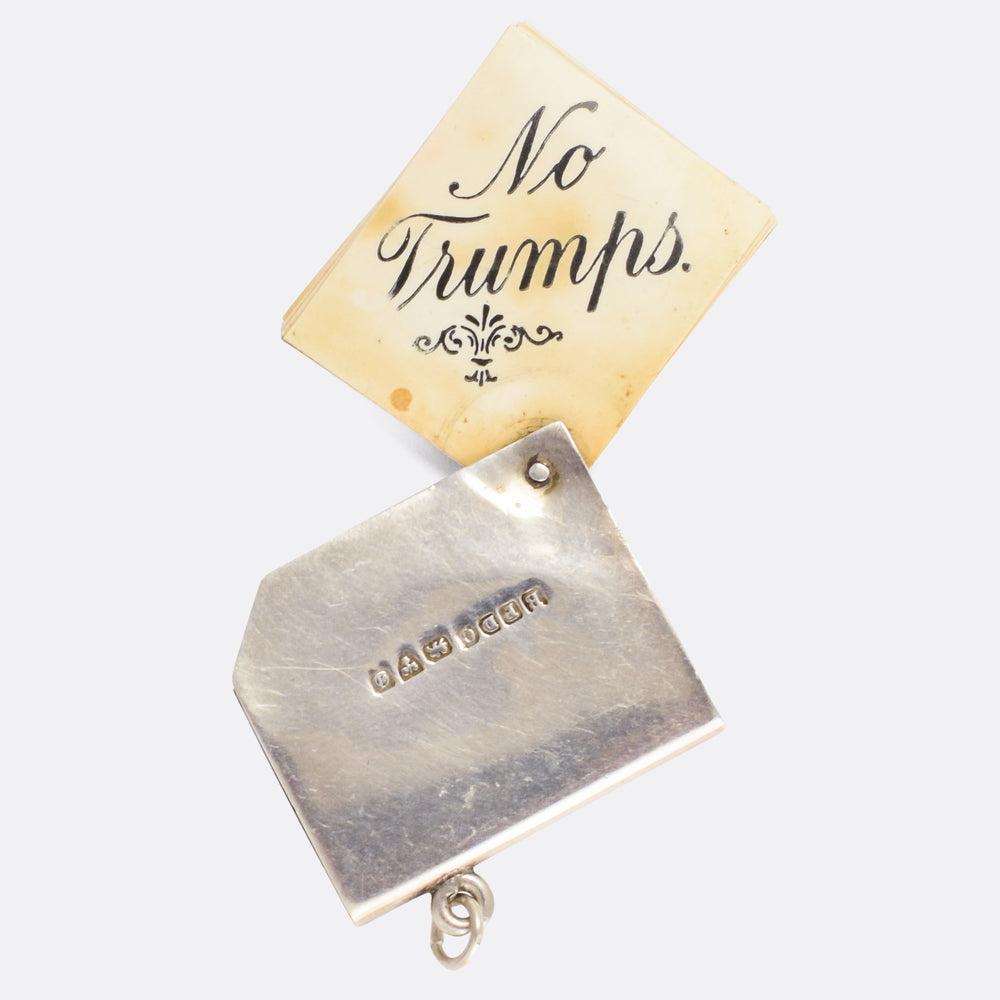 Edwardian NO TRUMPS Playing Cards Pendant