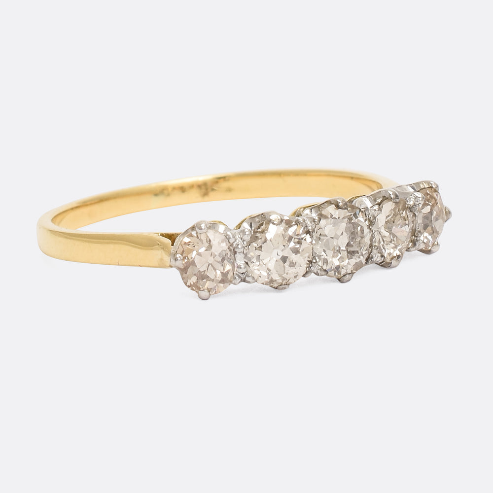 Edwardian Old Cut Diamond 5-Stone Ring
