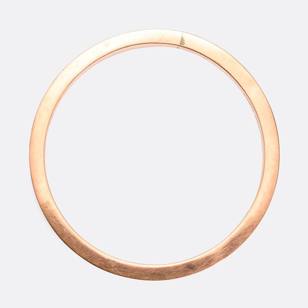 Edwardian Rose Gold Upper Arm Bangle