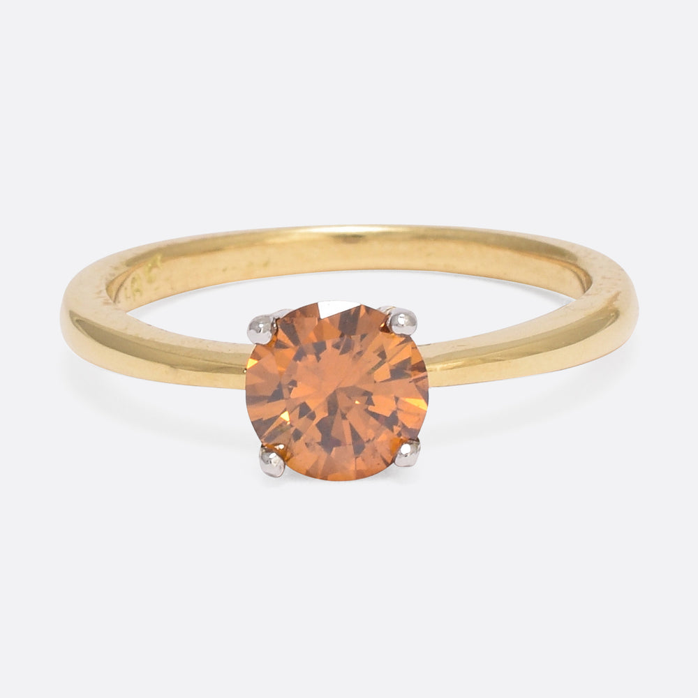 .81ct Fancy Orange Diamond Ring by Butter Lane
