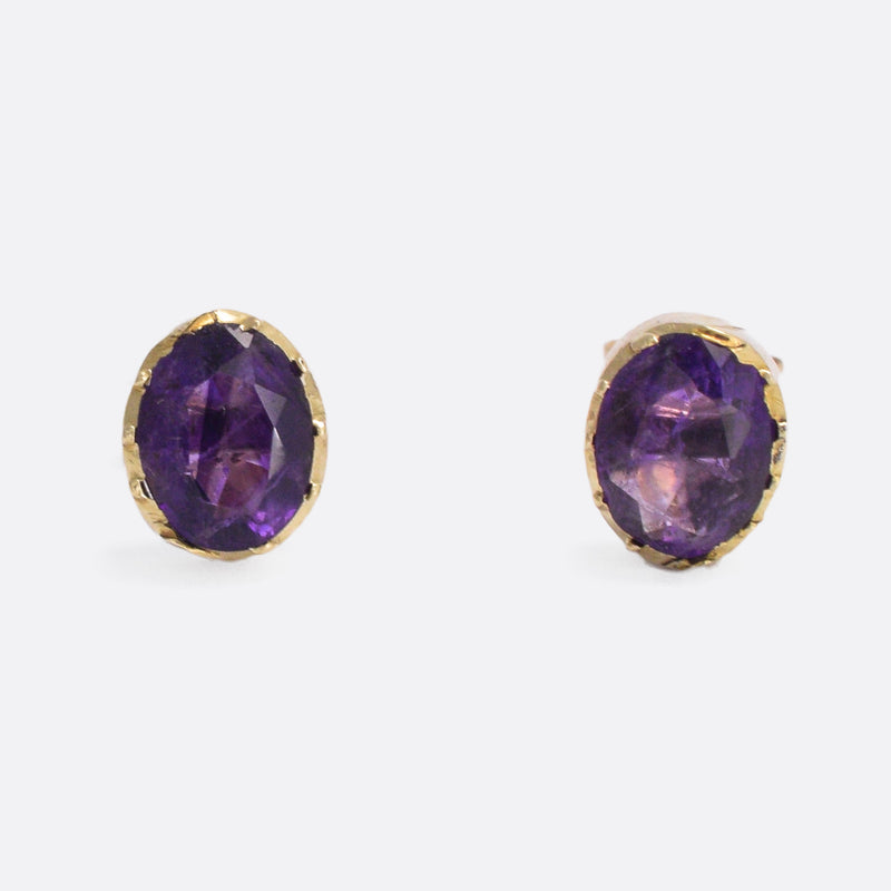blue nile main phab vi amethyst detailmain earrings silver stud in sterling lrg oval