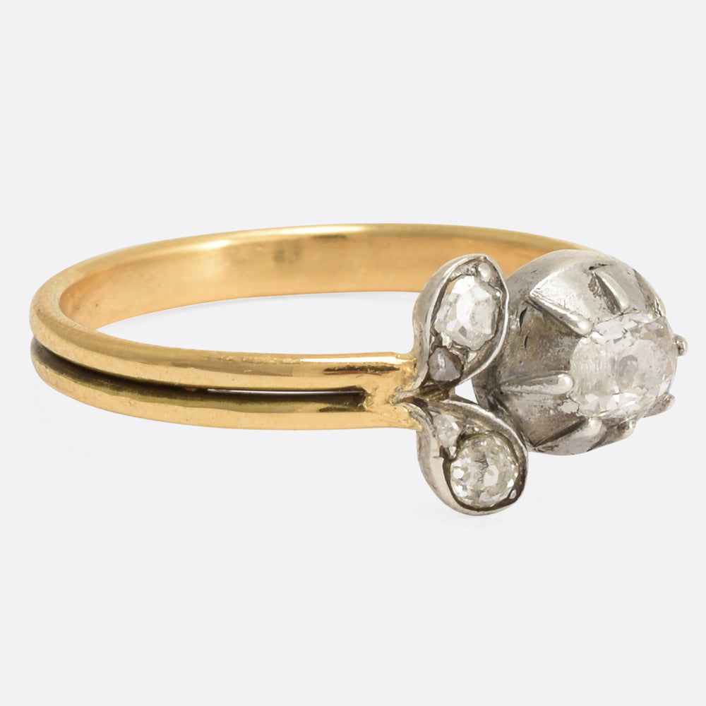 Georgian Diamond Flower Ring