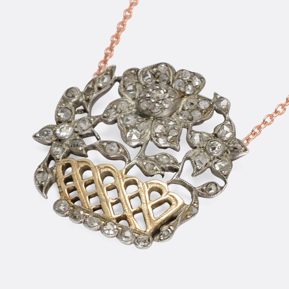 Georgian Diamond Giardinetti Necklace